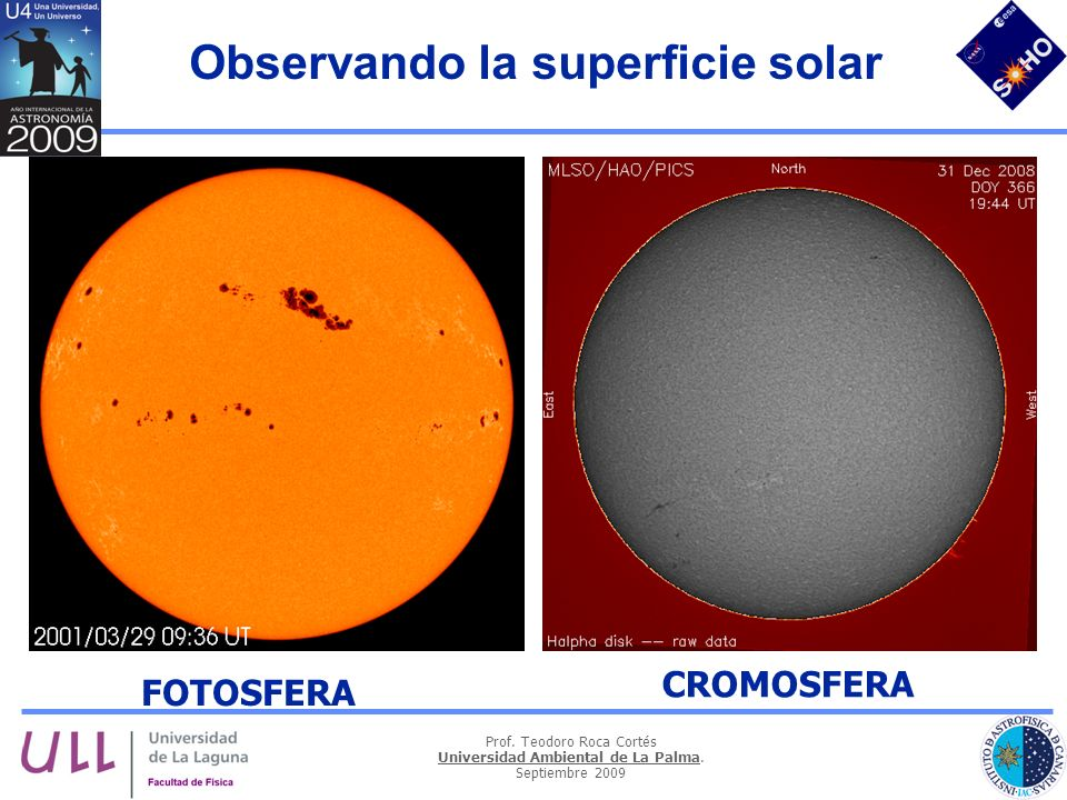 Observando la superficie solar