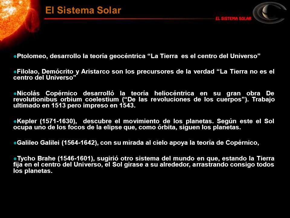 El Sistema Solar Ptolomeo, desarrollo la teoría geocéntrica La Tierra es el centro del Universo
