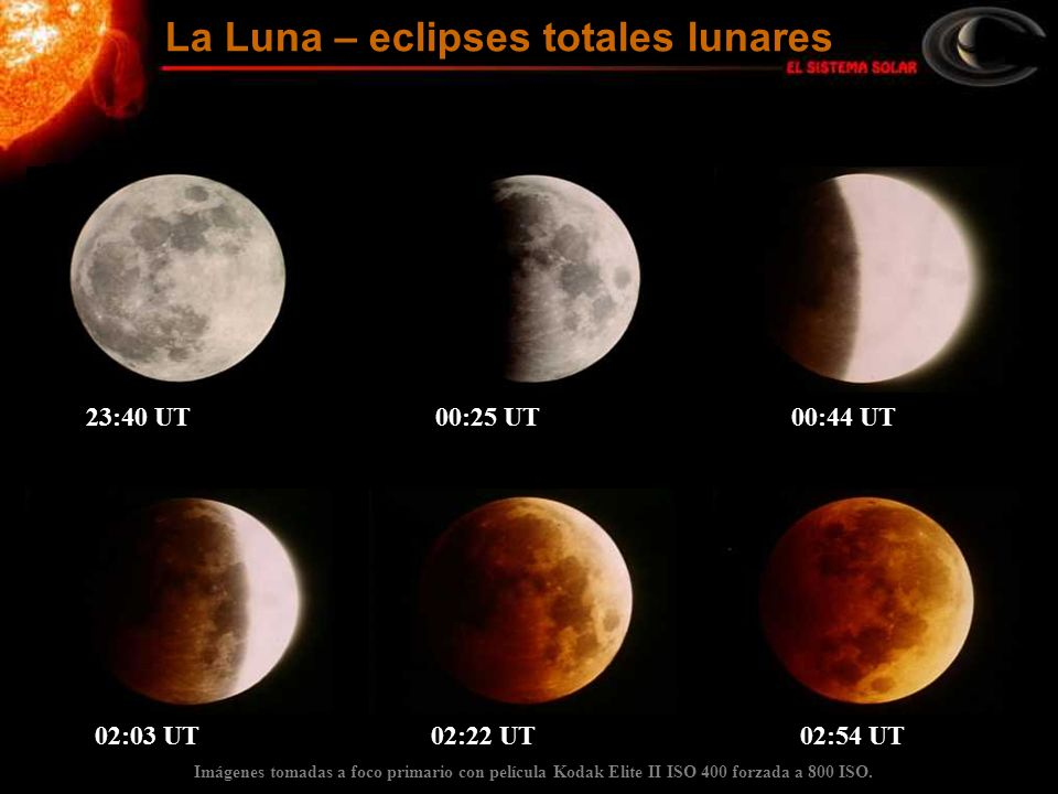 La Luna – eclipses totales lunares