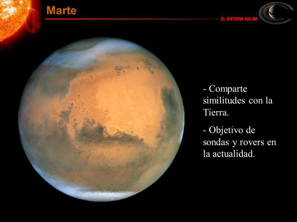 Marte Comparte similitudes con la Tierra.