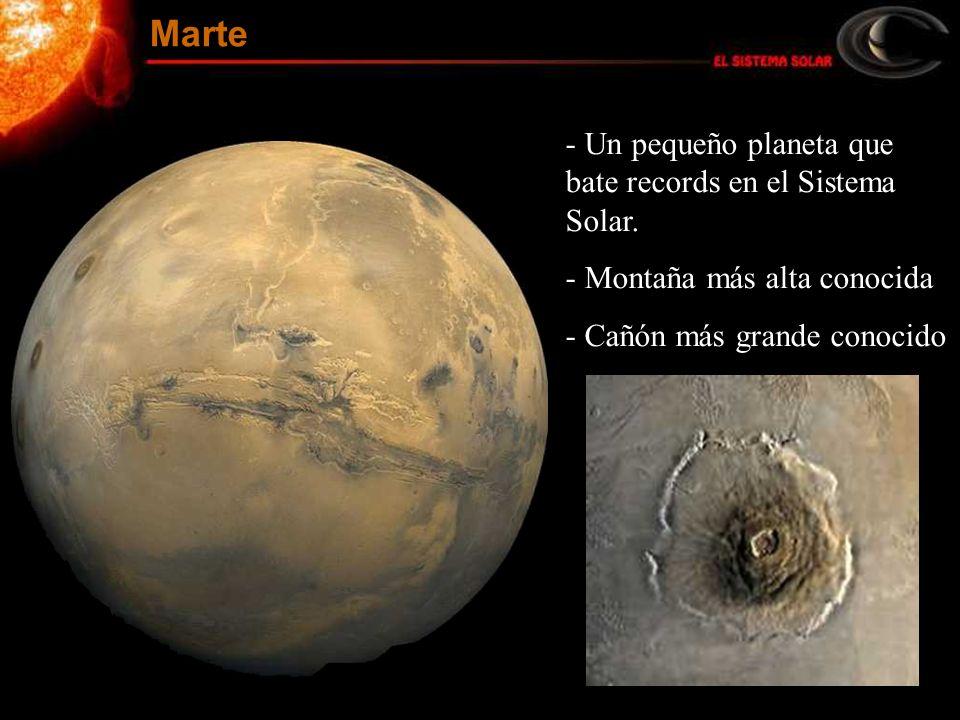 Marte Un pequeño planeta que bate records en el Sistema Solar.