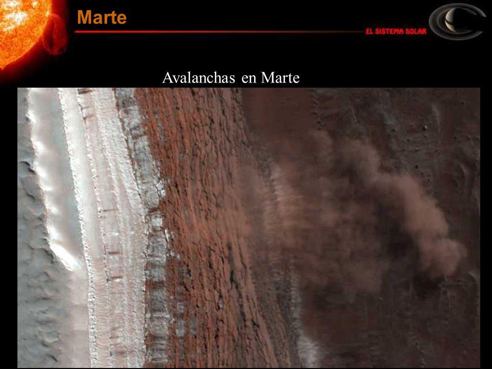 Marte Avalanchas en Marte