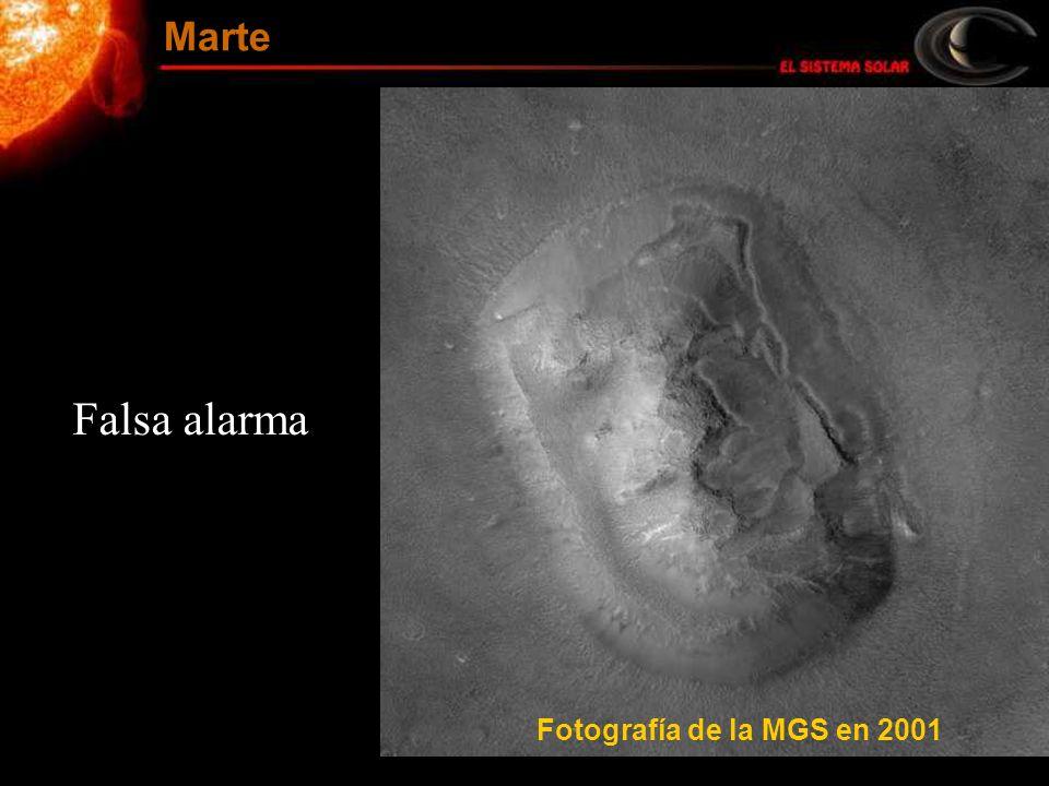 Marte Falsa alarma Fotografía de la MGS en 2001