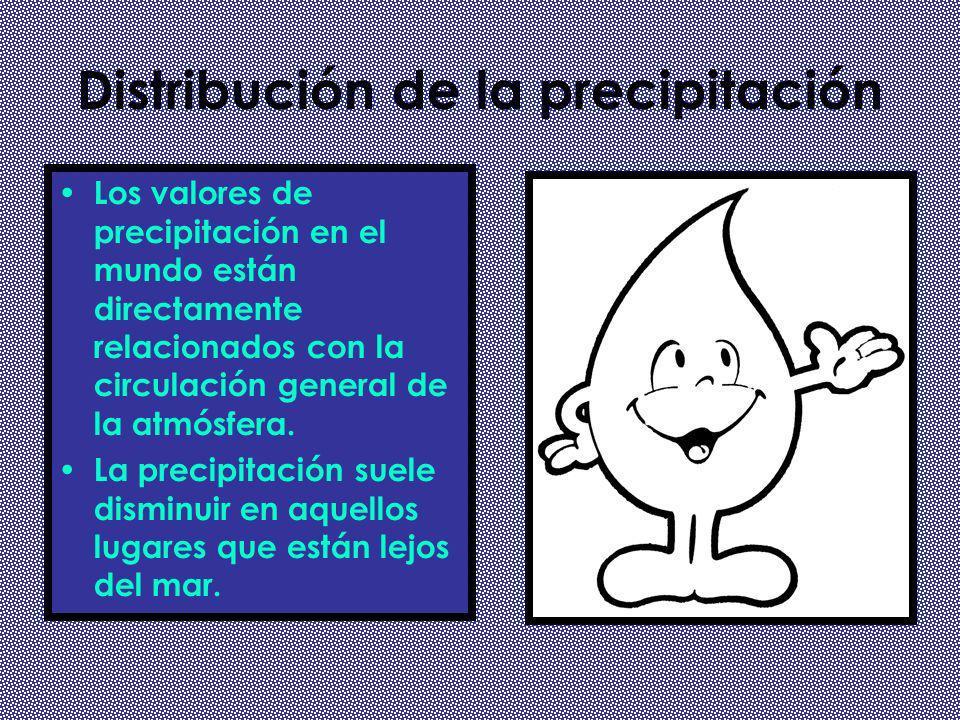 Distribución de la precipitación