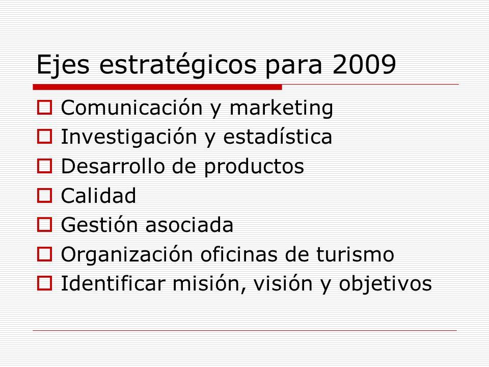 Ejes estratégicos para 2009
