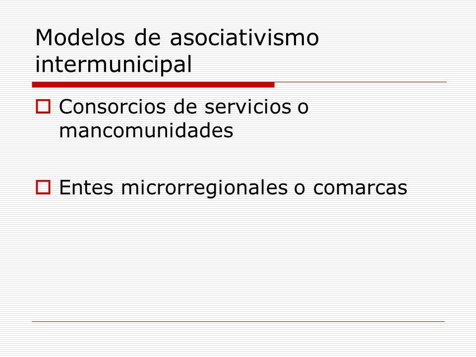 Modelos de asociativismo intermunicipal