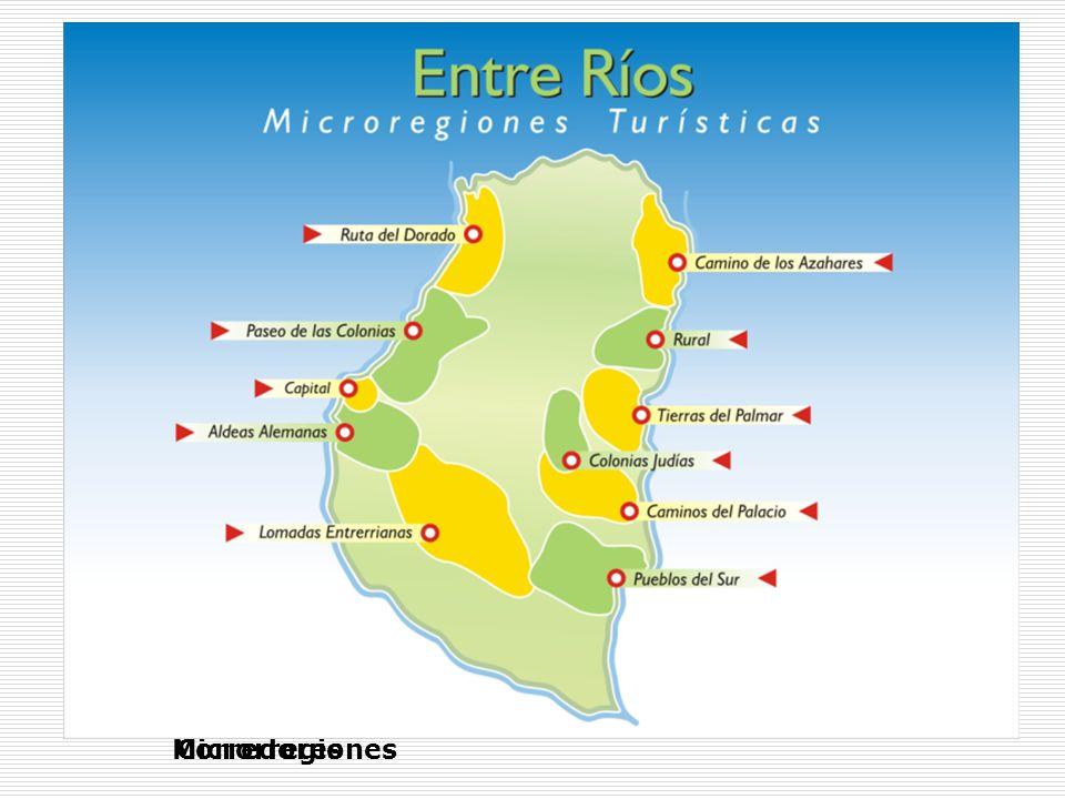 Mapa turístico de Entre Ríos