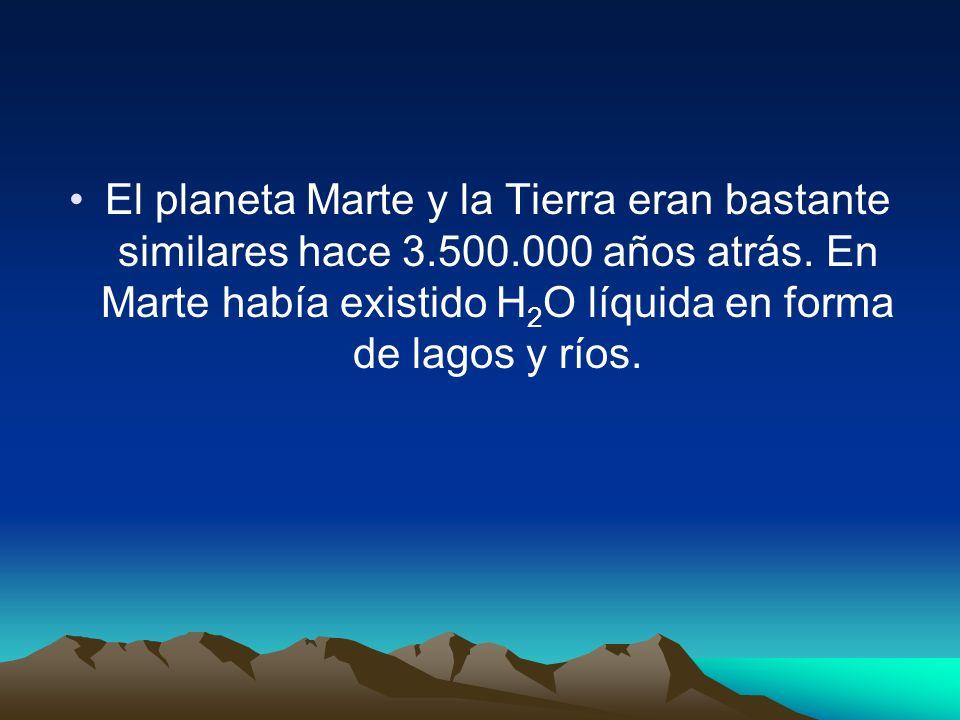 El planeta Marte y la Tierra eran bastante similares hace 3. 500