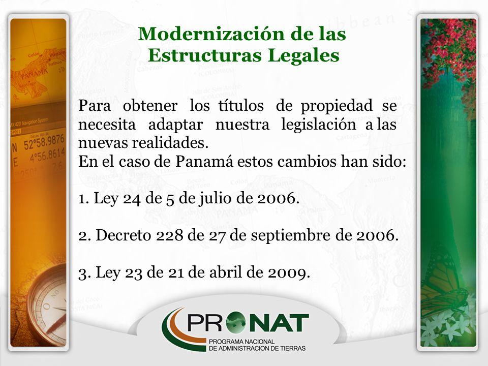 Modernización de las Estructuras Legales