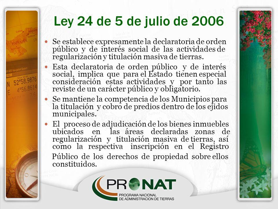 Ley 24 de 5 de julio de 2006