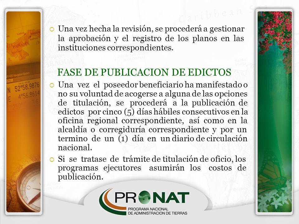 FASE DE PUBLICACION DE EDICTOS