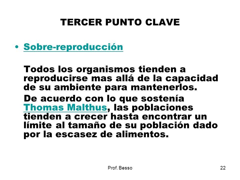 TERCER PUNTO CLAVE Sobre-reproducción