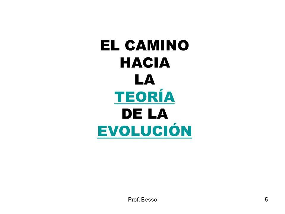 EL CAMINO HACIA LA TEORÍA DE LA EVOLUCIÓN