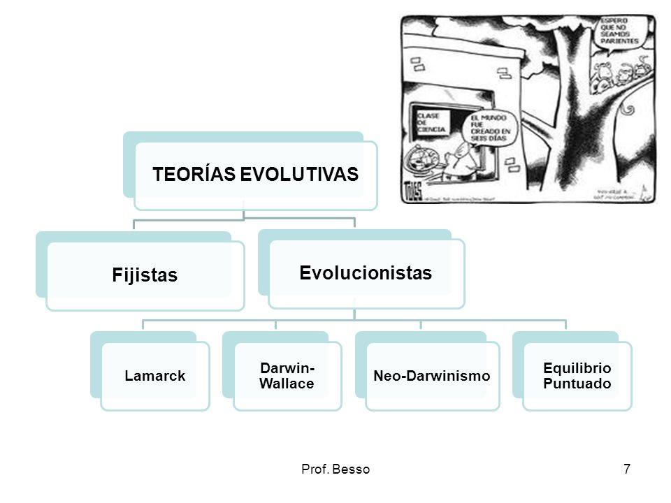 TEORÍAS EVOLUTIVAS Fijistas Evolucionistas