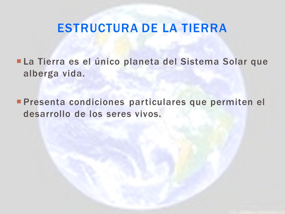 Estructura de la Tierra