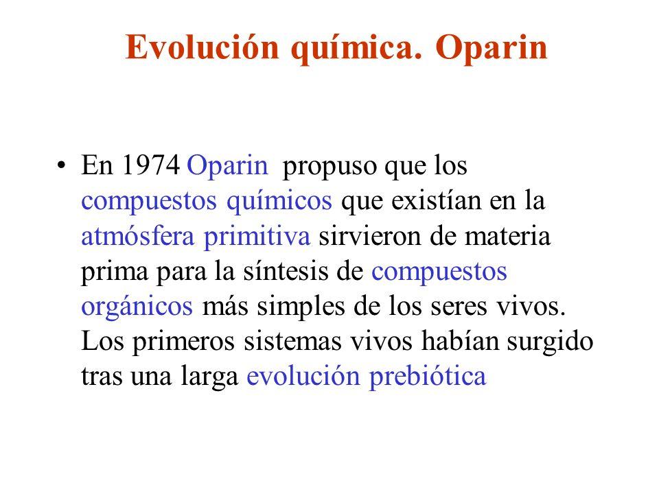 Evolución química. Oparin