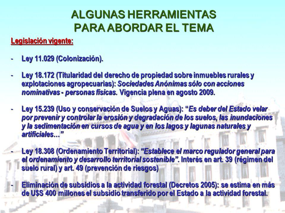 ALGUNAS HERRAMIENTAS PARA ABORDAR EL TEMA