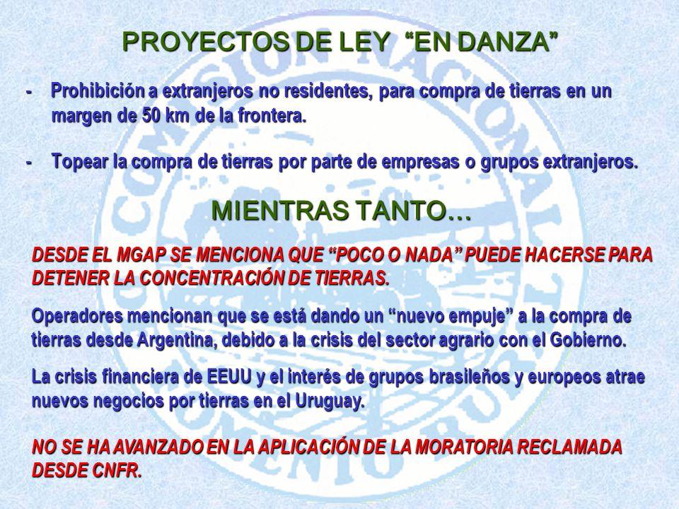 PROYECTOS DE LEY EN DANZA