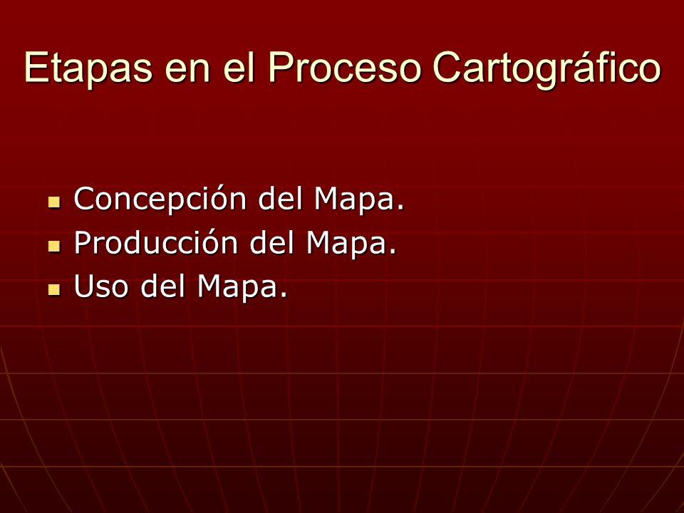 Etapas en el Proceso Cartográfico