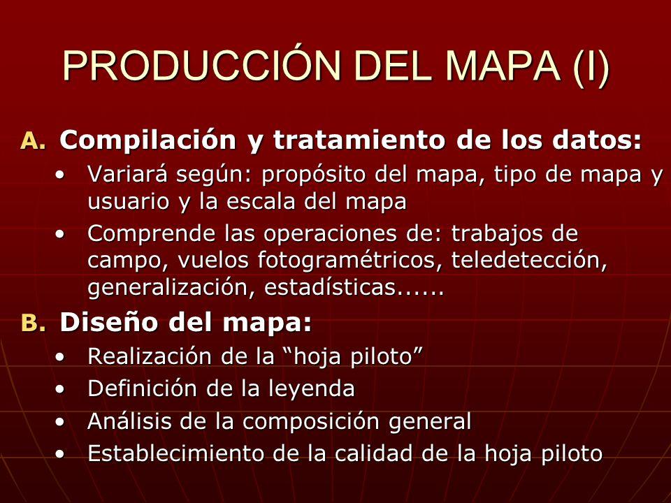PRODUCCIÓN DEL MAPA (I)