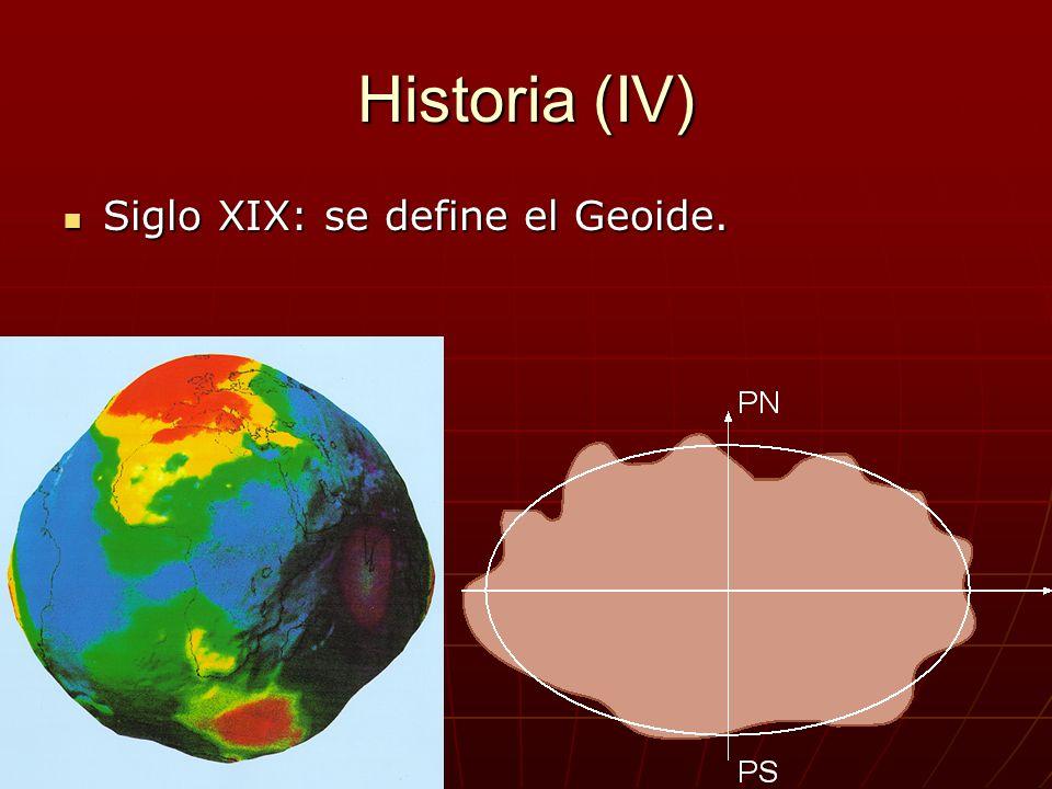 Historia (IV) Siglo XIX: se define el Geoide.