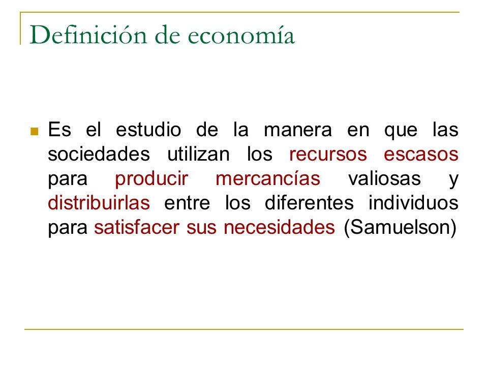 Definición de economía
