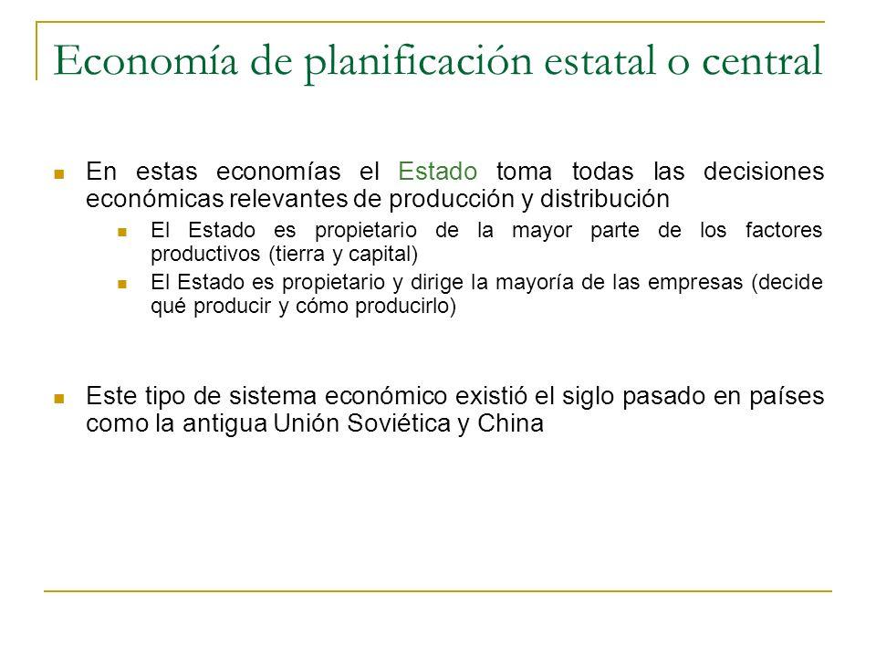 Economía de planificación estatal o central