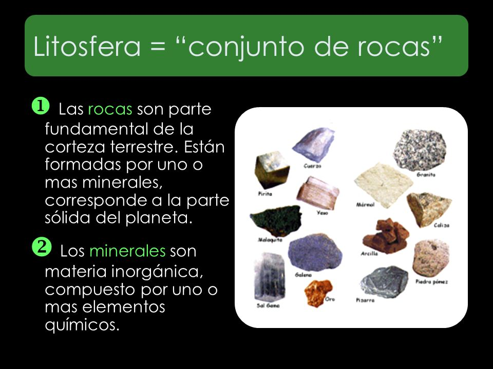 Litosfera = conjunto de rocas