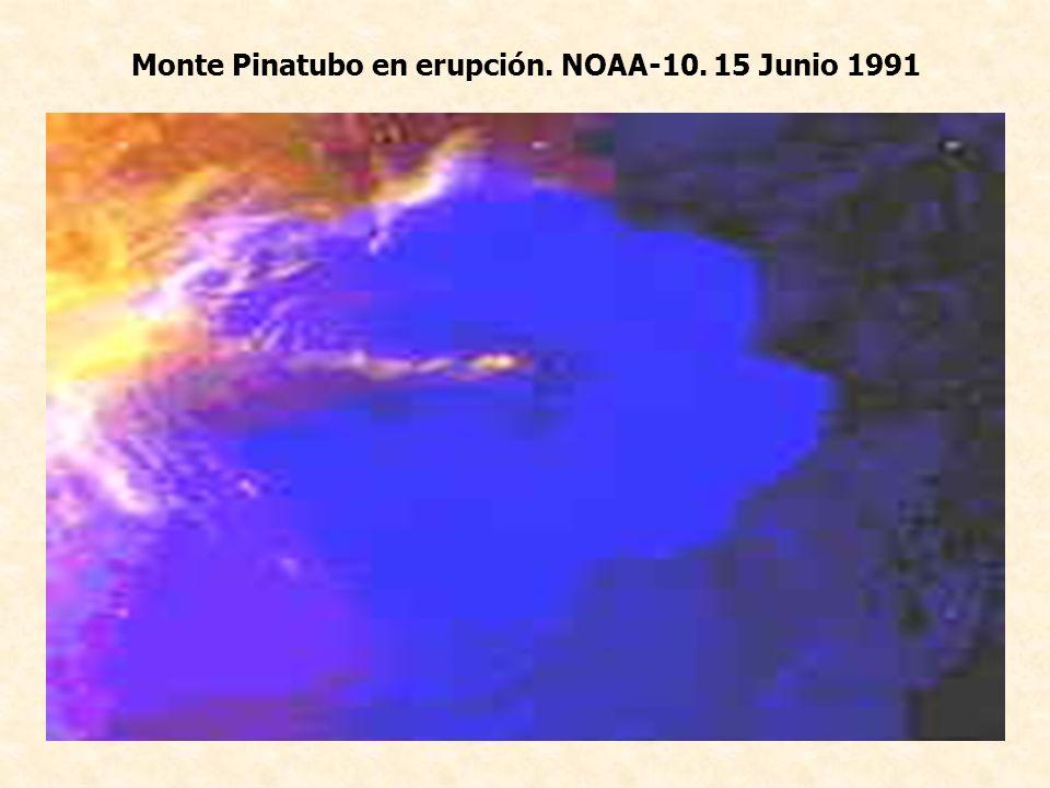 Monte Pinatubo en erupción. NOAA-10. 15 Junio 1991