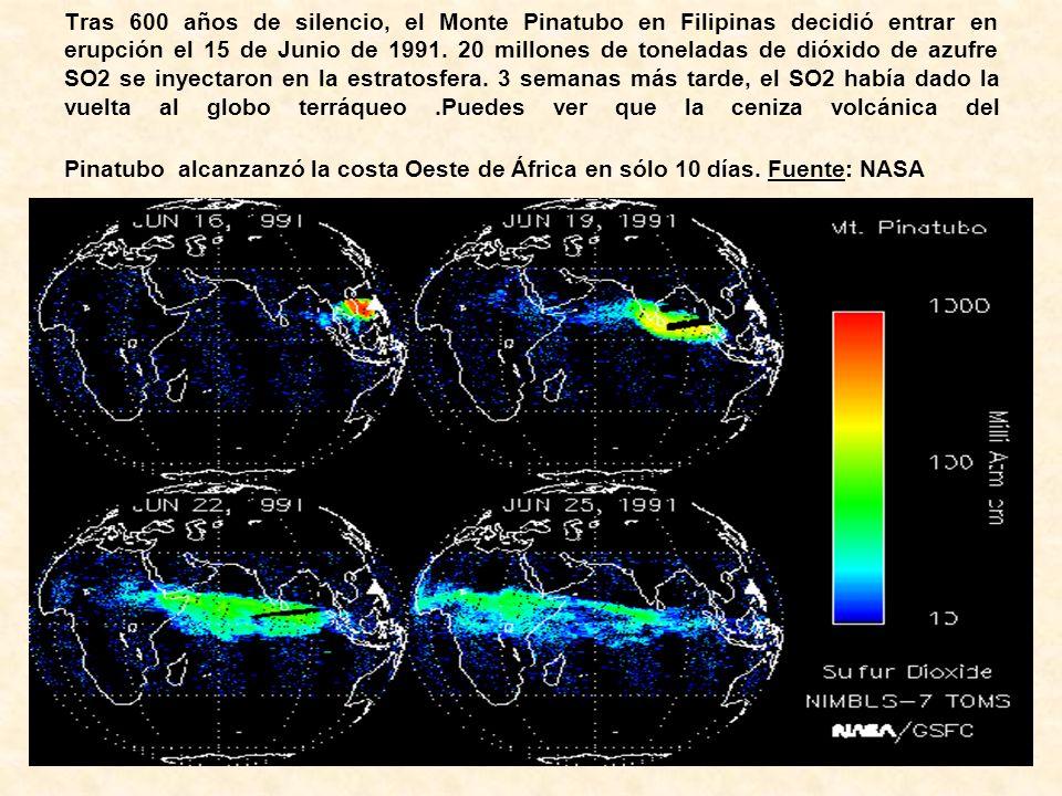 Tras 600 años de silencio, el Monte Pinatubo en Filipinas decidió entrar en erupción el 15 de Junio de 1991.