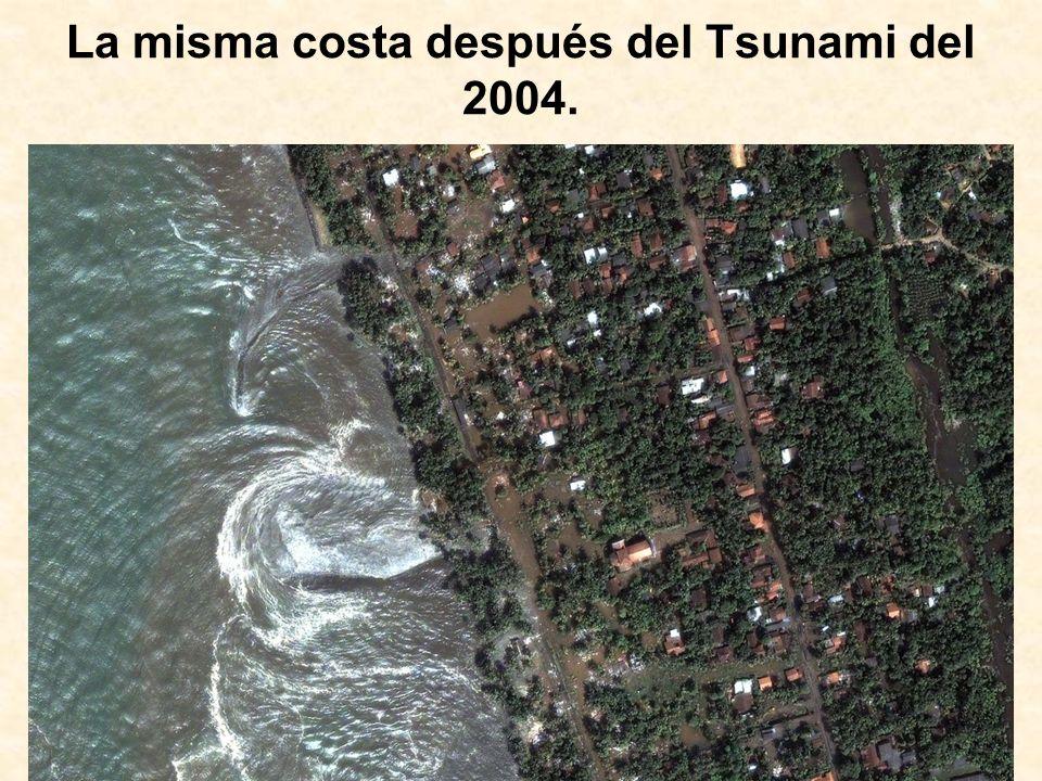 La misma costa después del Tsunami del 2004.