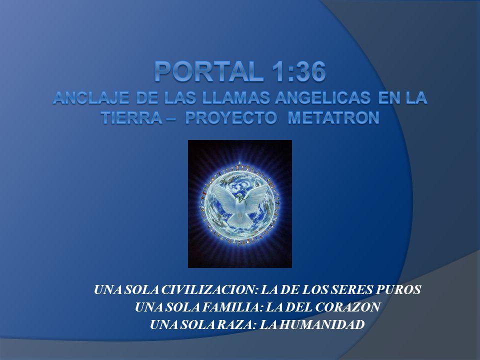 PORTAL 1:36 ANCLAJE DE LAS LLAMAS ANGELICAS EN LA TIERRA – proyecto metatron