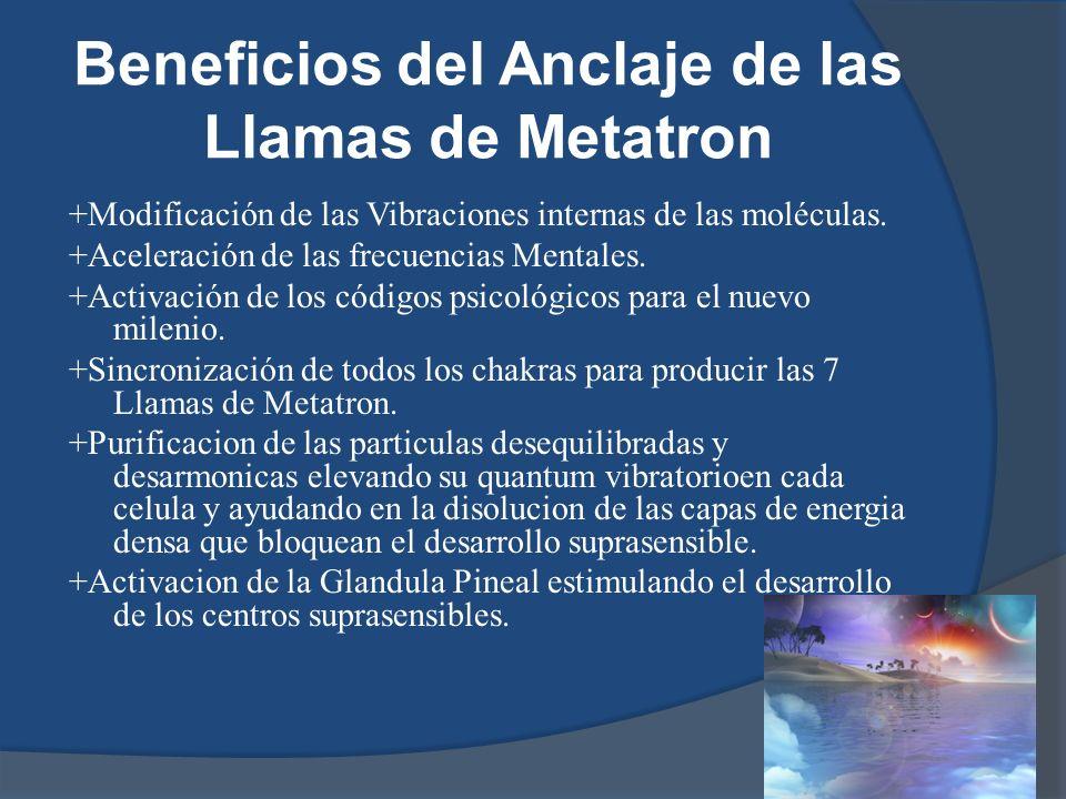 Beneficios del Anclaje de las Llamas de Metatron
