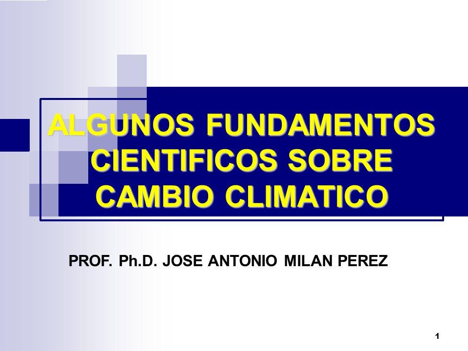 ALGUNOS FUNDAMENTOS CIENTIFICOS SOBRE CAMBIO CLIMATICO