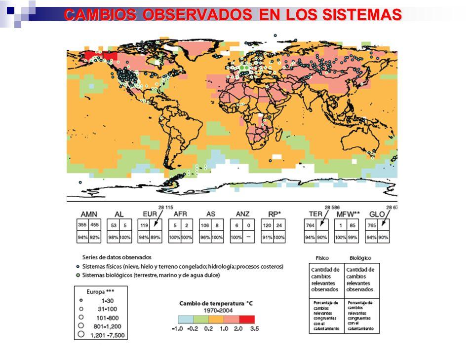 CAMBIOS OBSERVADOS EN LOS SISTEMAS