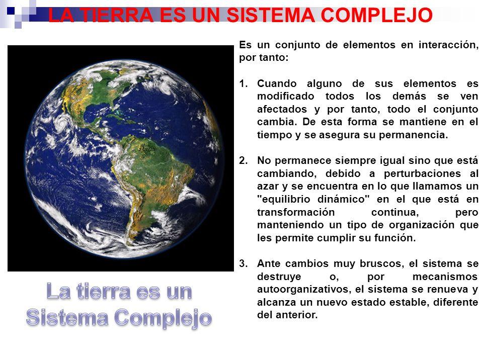 LA TIERRA ES UN SISTEMA COMPLEJO La tierra es un Sistema Complejo