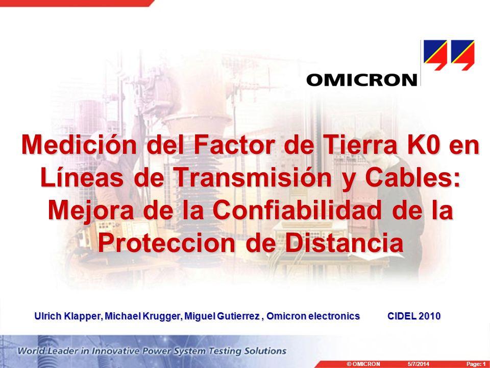 Medición del Factor de Tierra K0 en Líneas de Transmisión y Cables: Mejora de la Confiabilidad de la Proteccion de Distancia