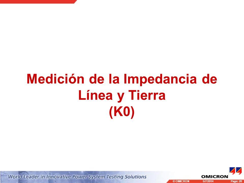 Medición de la Impedancia de Línea y Tierra (K0)