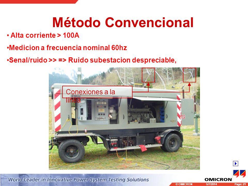 Método Convencional Alta corriente > 100A