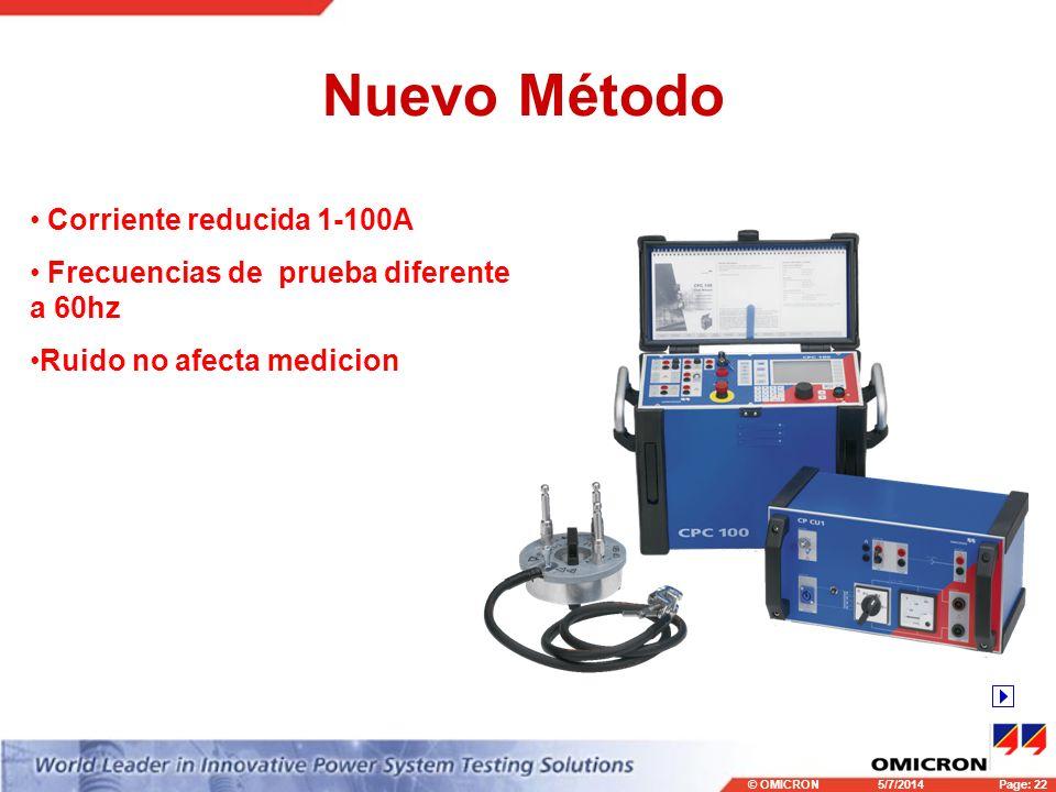 Nuevo Método Corriente reducida 1-100A