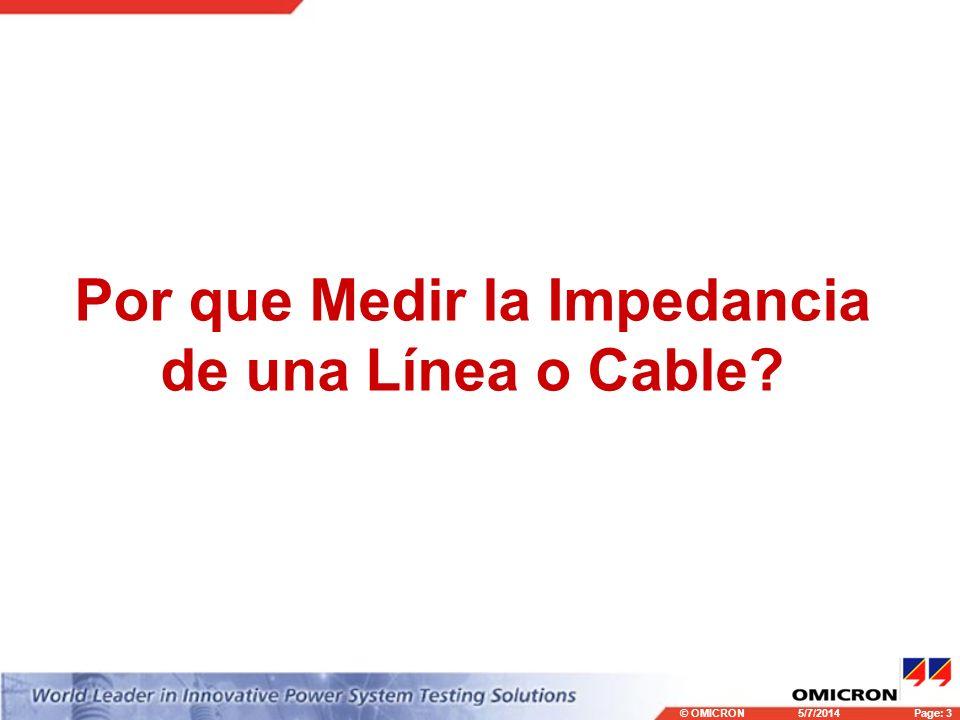 Por que Medir la Impedancia de una Línea o Cable