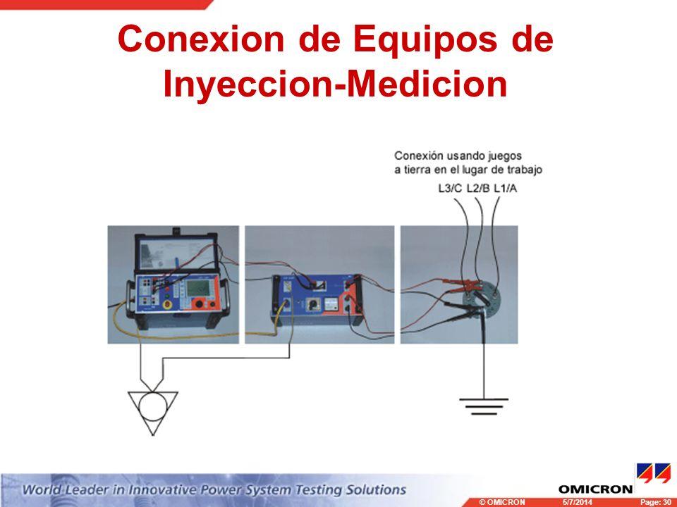 Conexion de Equipos de Inyeccion-Medicion