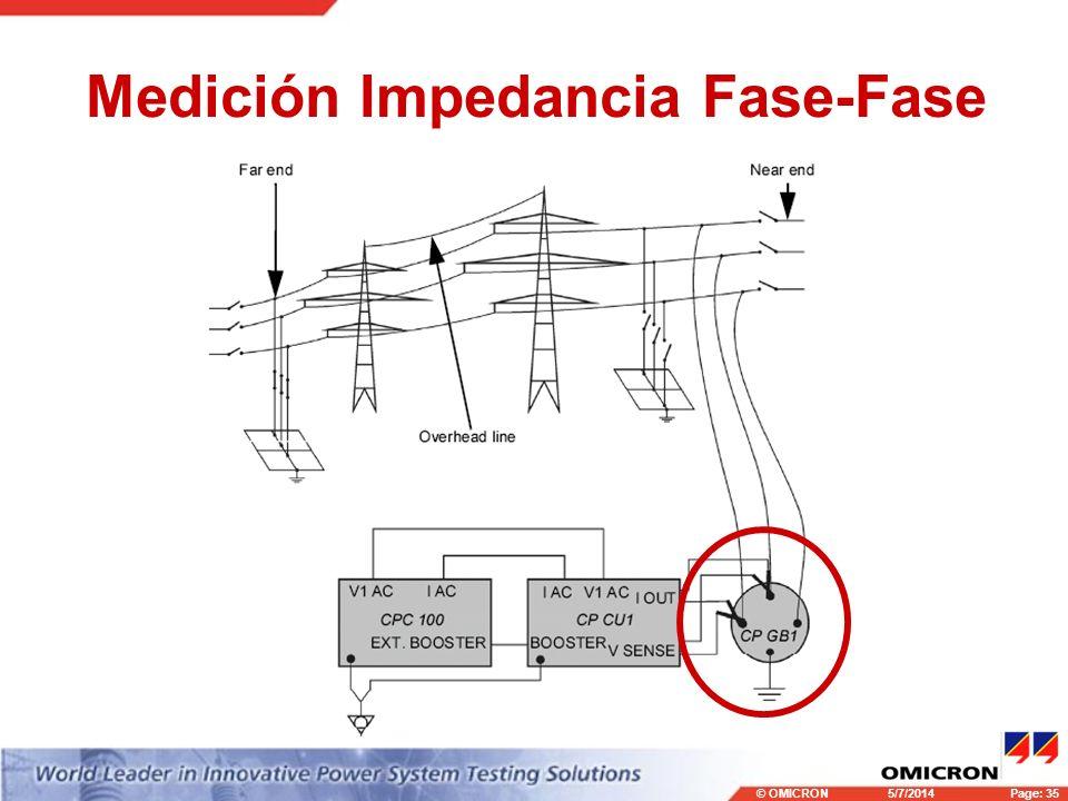 Medición Impedancia Fase-Fase
