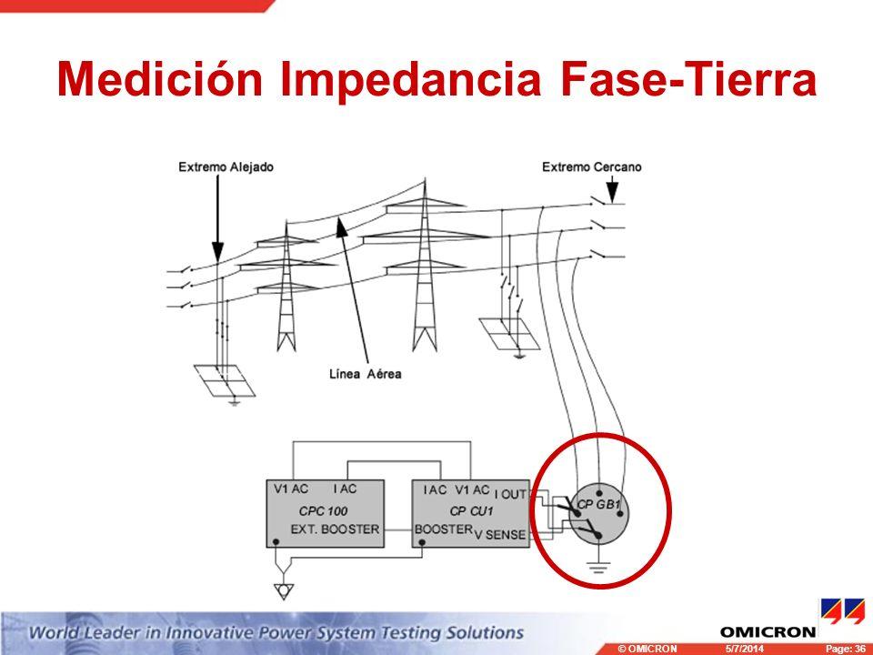 Medición Impedancia Fase-Tierra