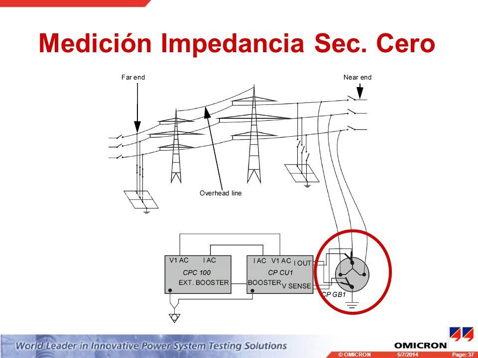 Medición Impedancia Sec. Cero