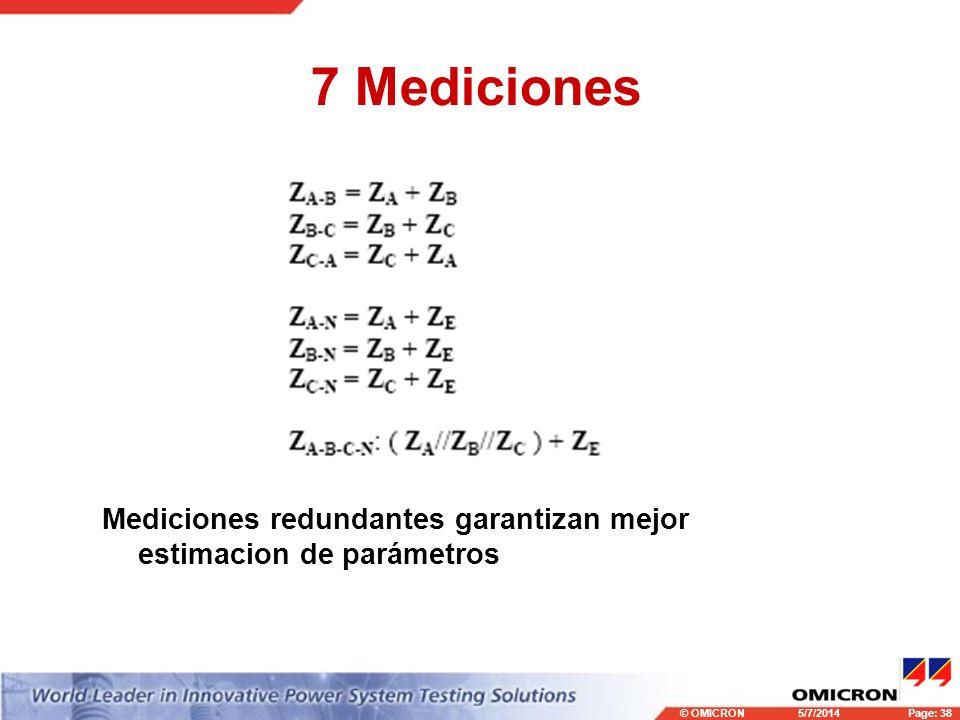 7 Mediciones Mediciones redundantes garantizan mejor estimacion de parámetros 3/29/2017