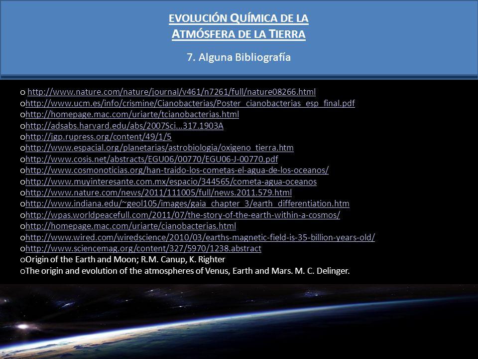 EVOLUCIÓN QUÍMICA DE LA