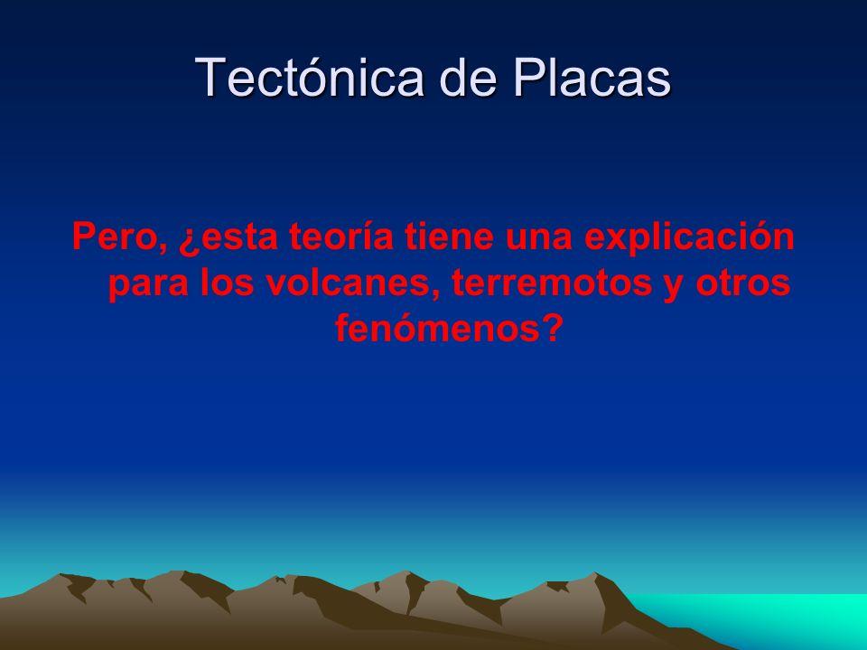 Tectónica de Placas Pero, ¿esta teoría tiene una explicación para los volcanes, terremotos y otros fenómenos