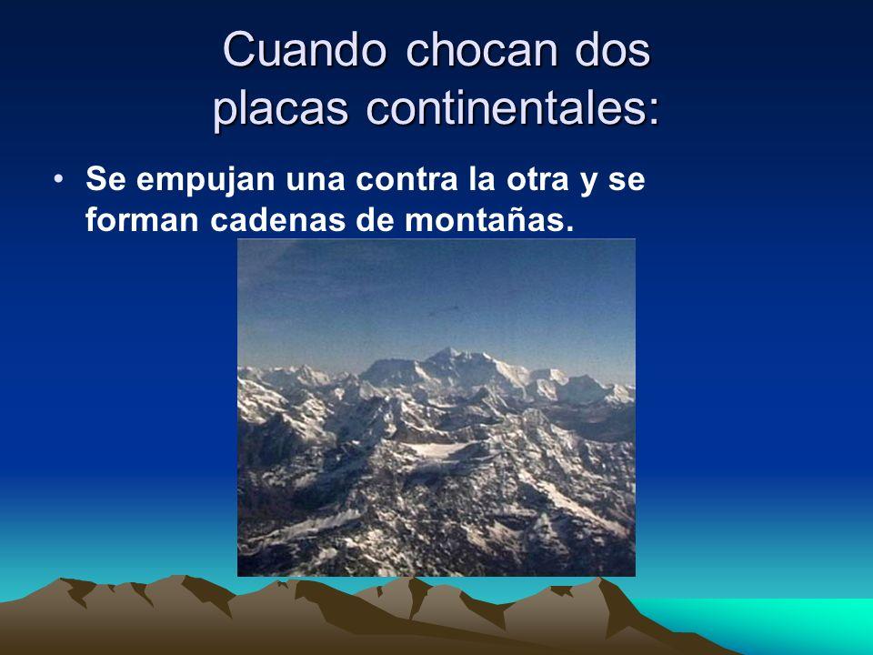 Cuando chocan dos placas continentales: