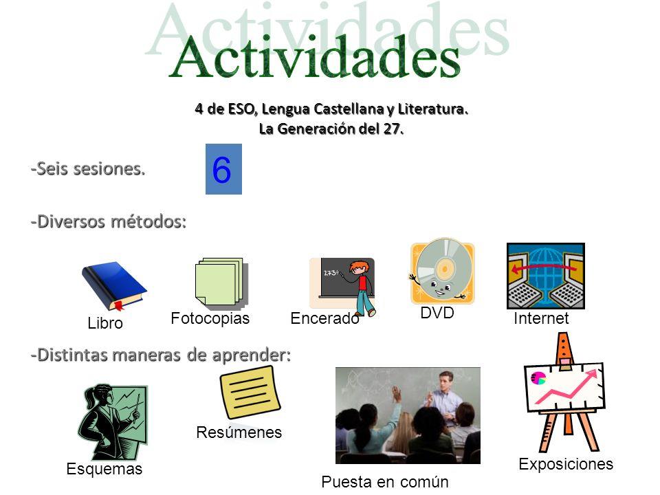 4 de ESO, Lengua Castellana y Literatura. La Generación del 27.